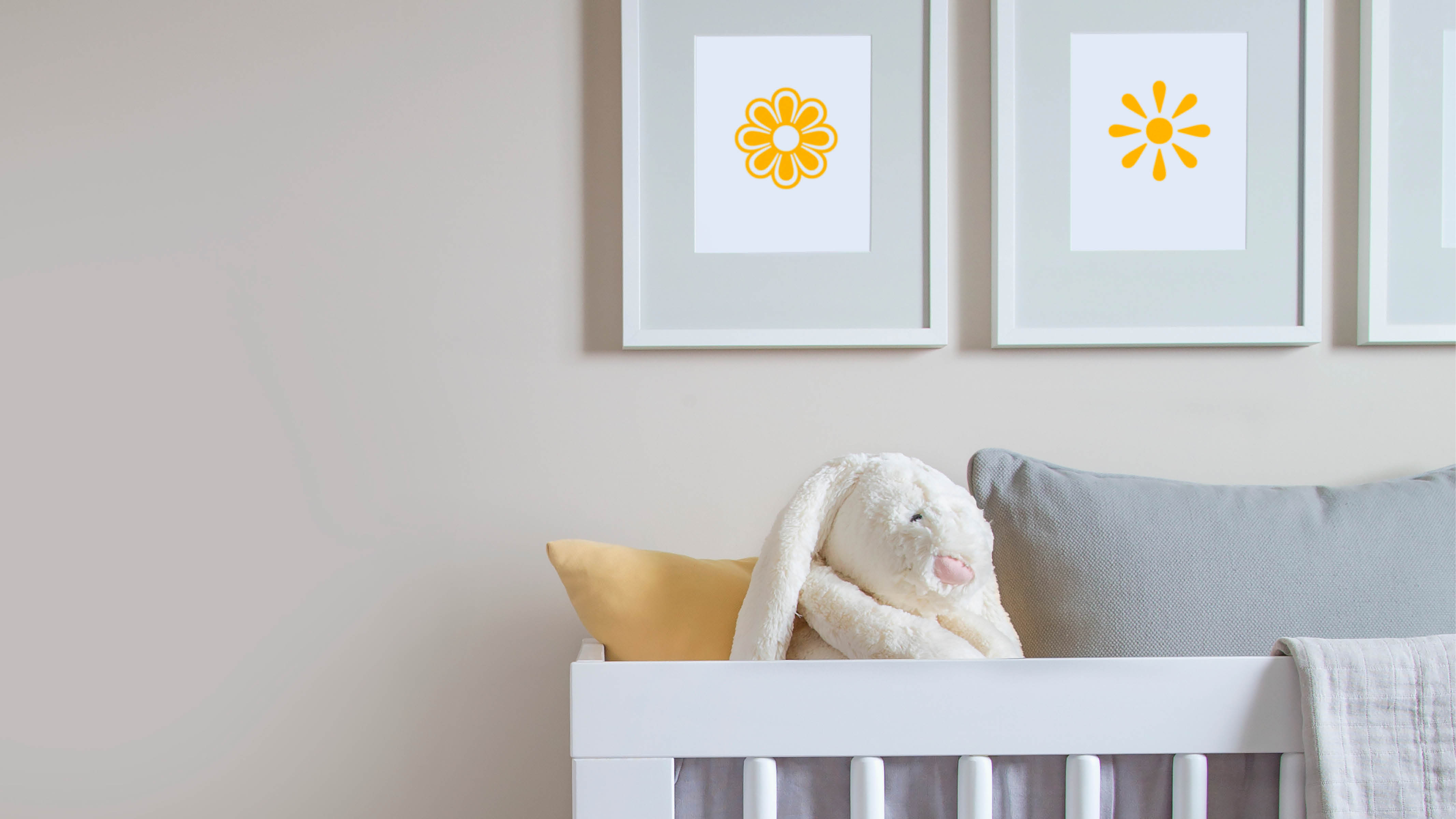Grey and yellow is the ultimate gender-neutral colour combination and works just as well in a baby's bedroom as a teenager's.