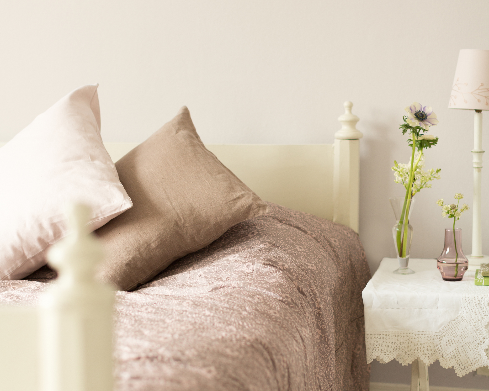 Pairing warm taupe with a crisp shade of white is a fail-safe way to achieve a chic look in your new home