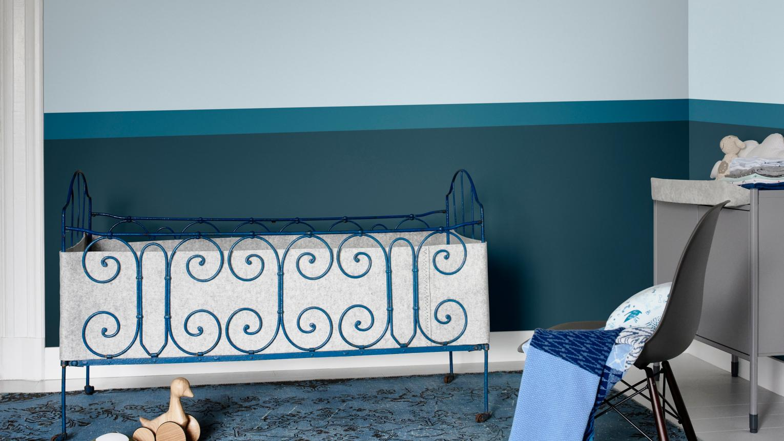 A relaxing colour palette can work wonders for the whole family. After all, if baby is slumbering soundly, so can you!