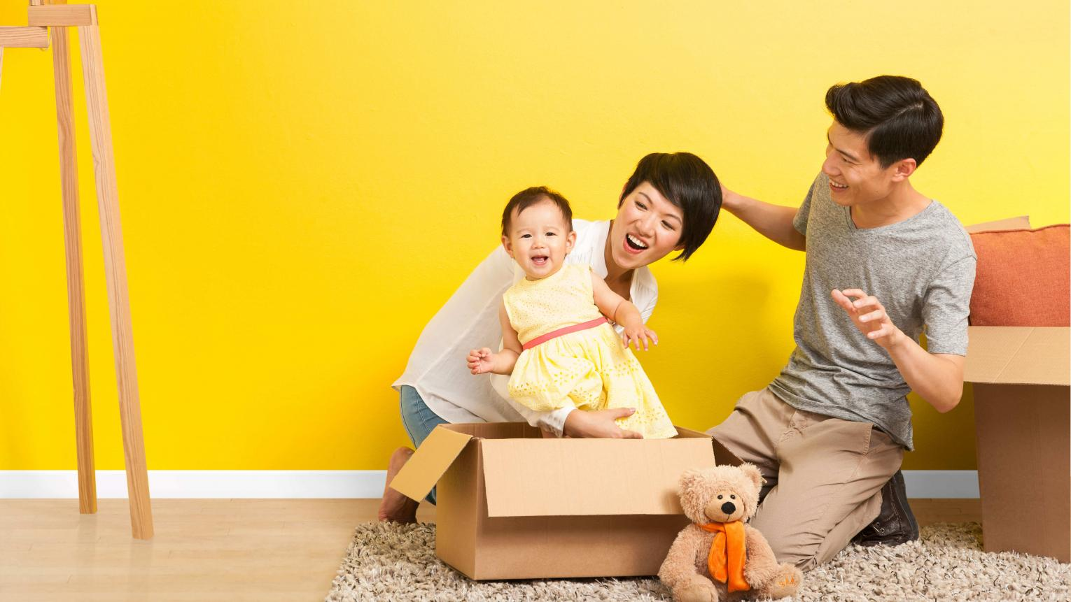 Most new movers are impatient to get decorating straight away, especially if they have a family to settle into their new space.