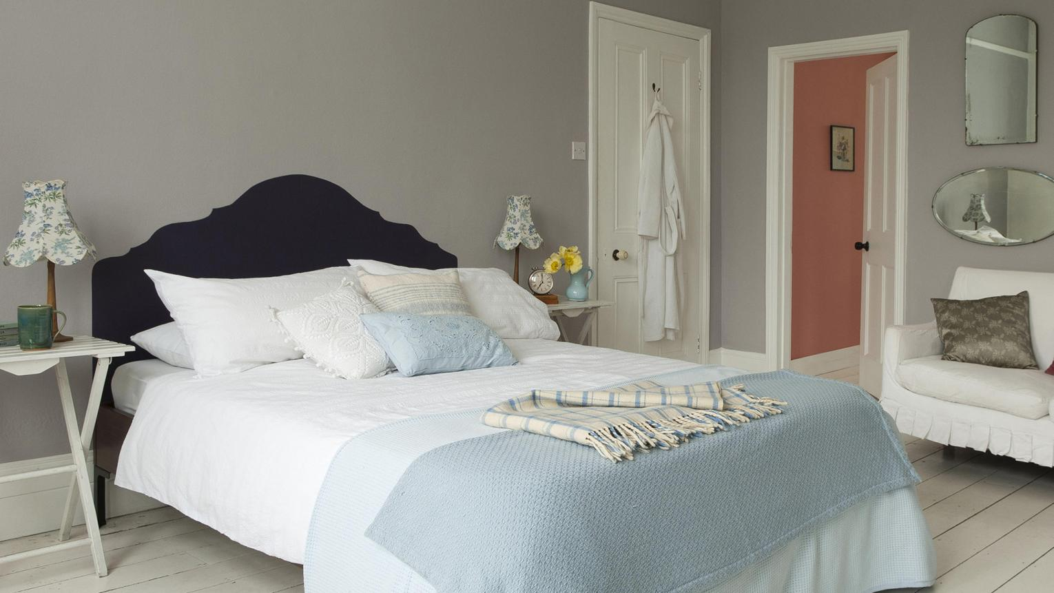 Use soft, dreamy neutrals to create a bedroom that encourages rest and relaxation.