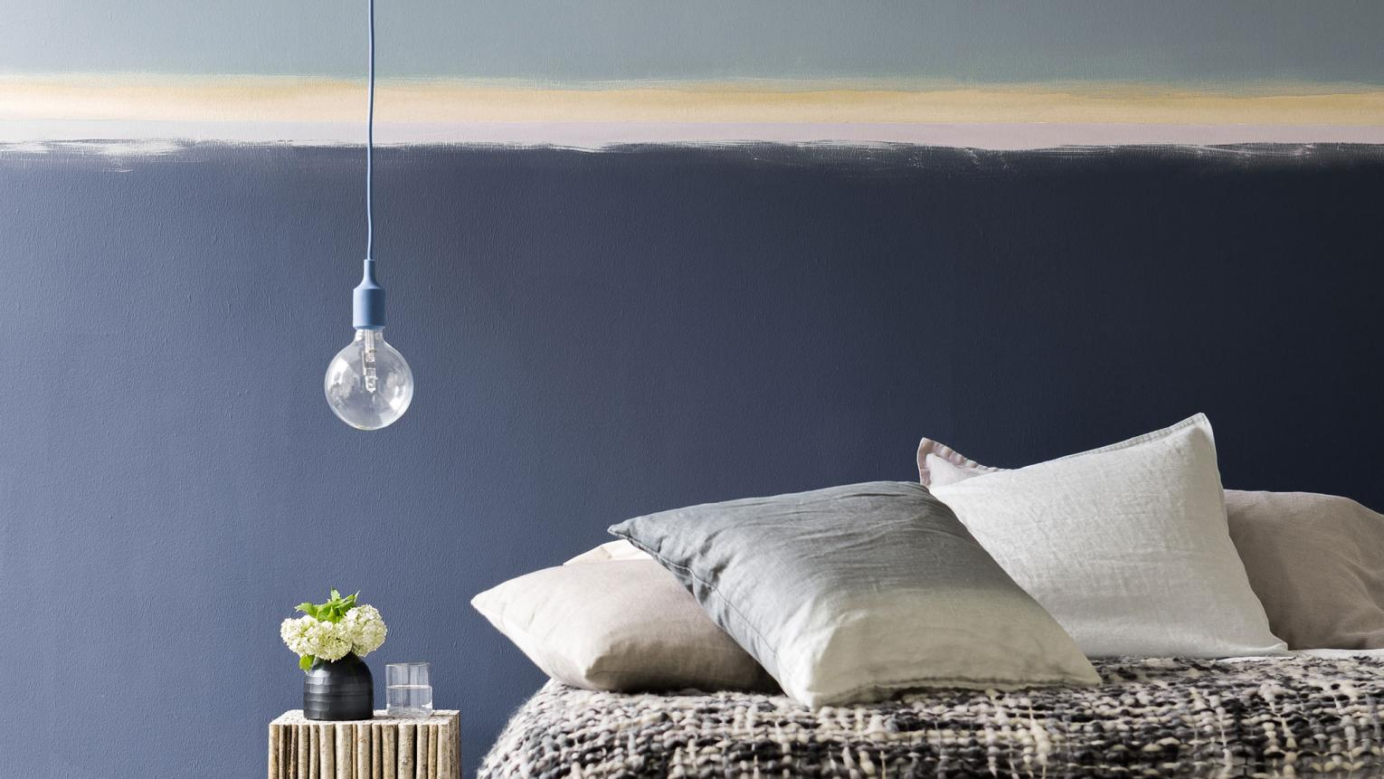 Colour and decoration inspiration for creating a cosy guest bedroom.