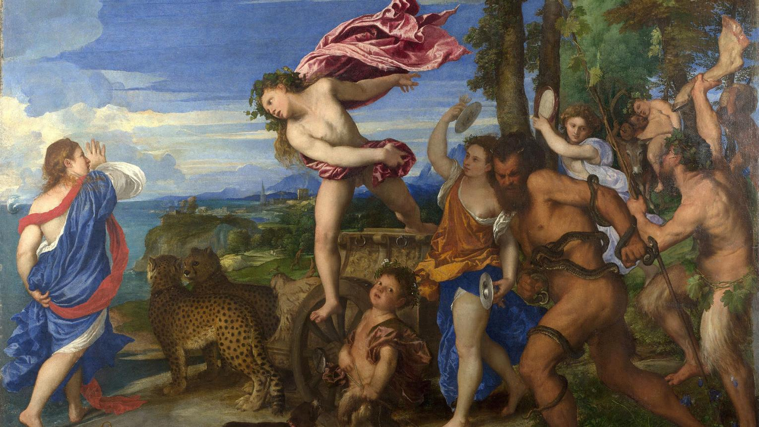 Bacchus and Ariadne, Titian, oil on canvas, National Gallery, London