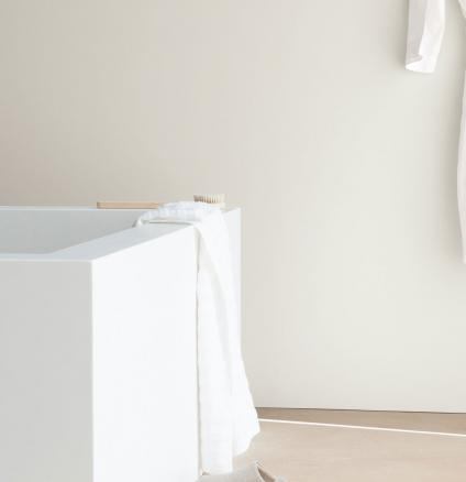 Turn your bathroom into a calming haven with a crisp colour palette of soothing whites.