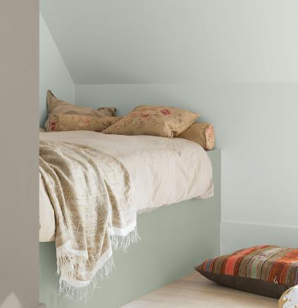Create a contemporary bedroom that a teenager won't outgrow. Use warm, neutral paint colours as a backdrop for accessories that show their personality.