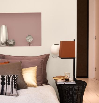 What are neutrals? They're not just creams and light browns. Try painting different tones of dark neutrals and layer them with harmonising hues.